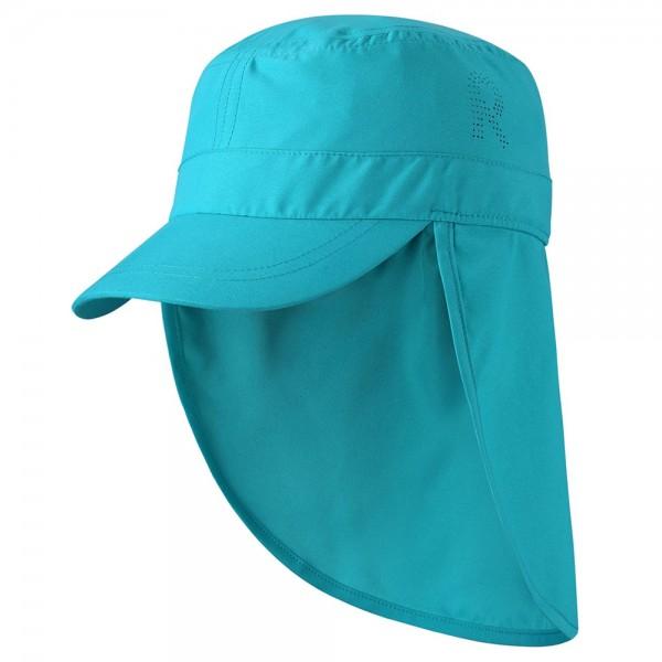 """UV-Schutz-Mütze 50+ Nackenschutz """"Aloha"""" türkis"""