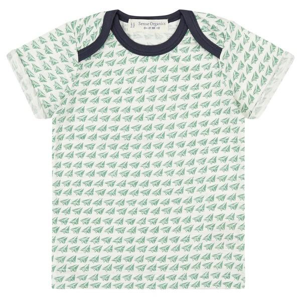 """Bio Baby-Shirt """"Kleine Papierflieger"""" grasgrün"""