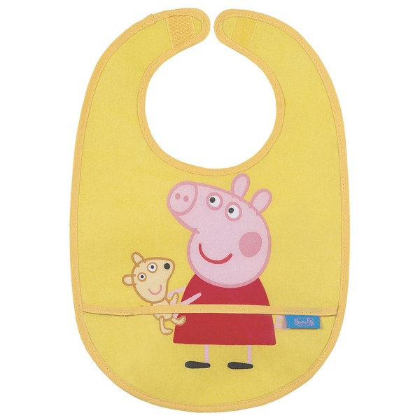 """Lätzchen abwischbar """"Peppa Pig"""" gelb"""