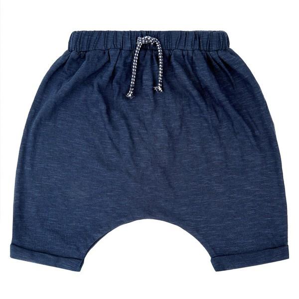 Bio Baby-Shorts - weit - uni navy
