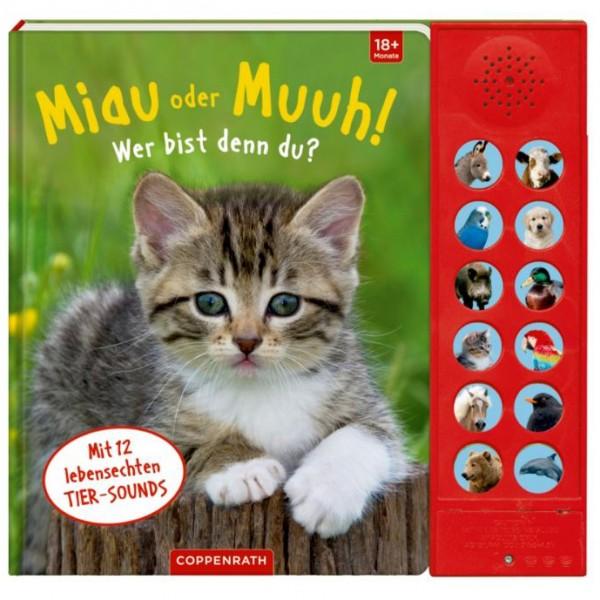 """Soundbuch """"Miau oder Muuh! Wer bist denn du? """""""