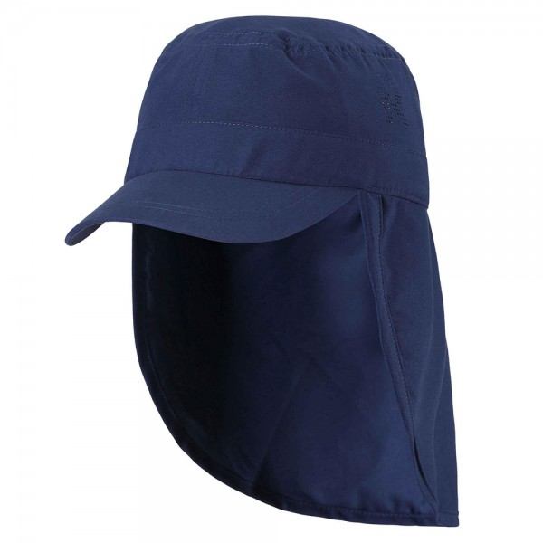 "UV-Schutz-Mütze 50+ Nackenschutz ""Aloha"" navy"