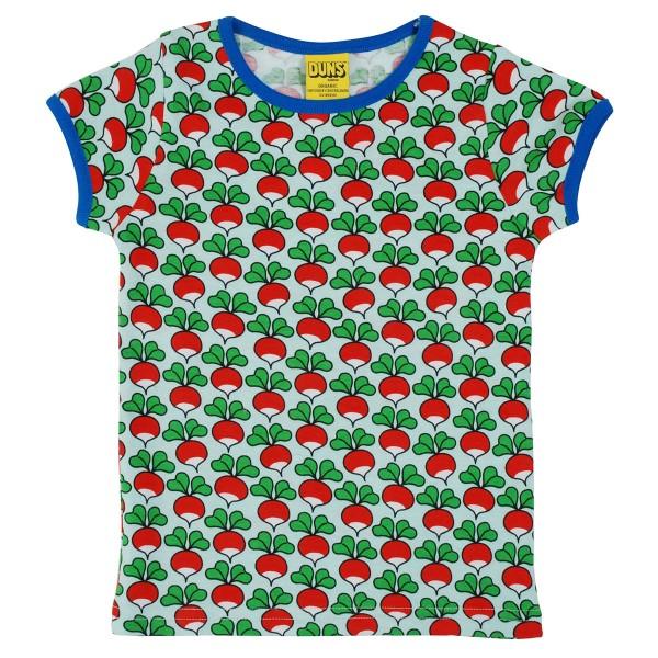 """Kurzarm-Shirt """"Radieschen"""" pastell-hellblau"""