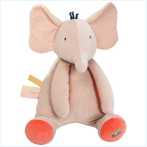 """Großer Aktivitäten-Elefant """"Les Papoum"""" 55 cm"""