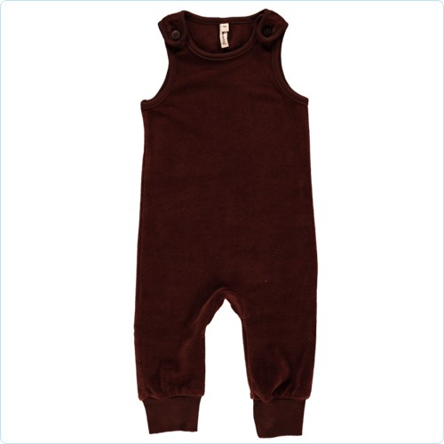 Maxomorra Velour-Playsuit braun