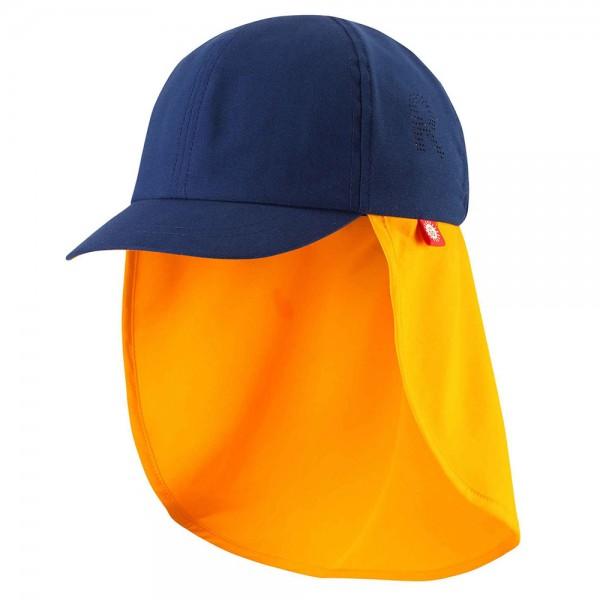 """UV-Schutz-Mütze 50+ """"Tropisk"""" navy/orange"""