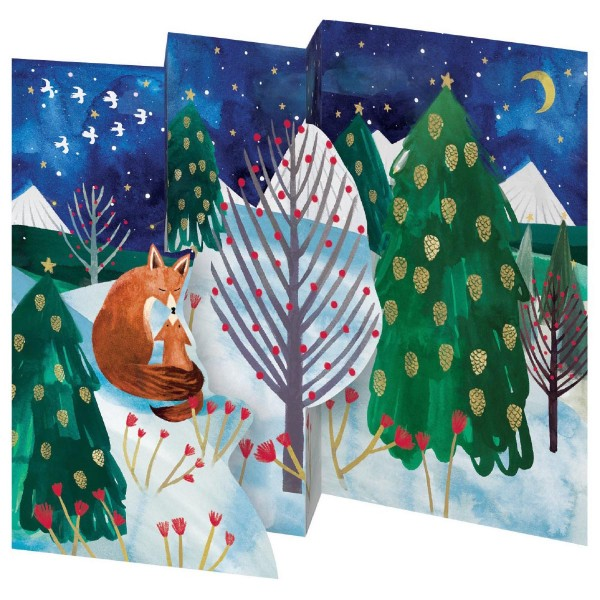 "Lose Tri-Fold-Karte ""Cub's first Christmas"""