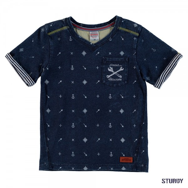 """Kurzarm-Shirt """"Dock"""" indigo"""