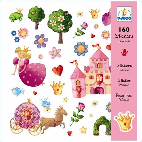 """160 Sticker/Aufkleber """"Prinzessinnen"""""""