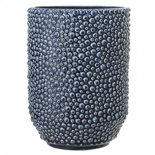 "Vase ""Noppen-Muster"" jeansblau ø 14,5 cm"