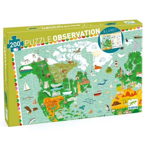 """Such-Puzzle mit Heft """"Um die Welt"""" 200 Teile"""