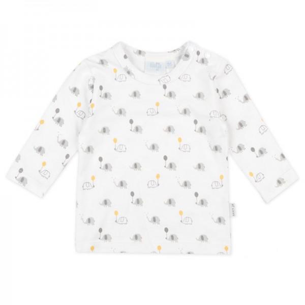 """Bio Baby-Shirt """"Elefanten"""" weiß"""
