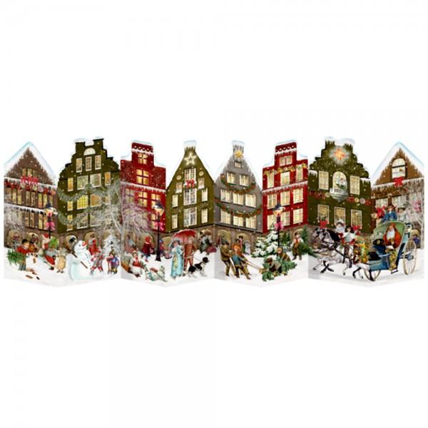 """Adventskalender """"Nostalgisches Häuserleporello"""""""