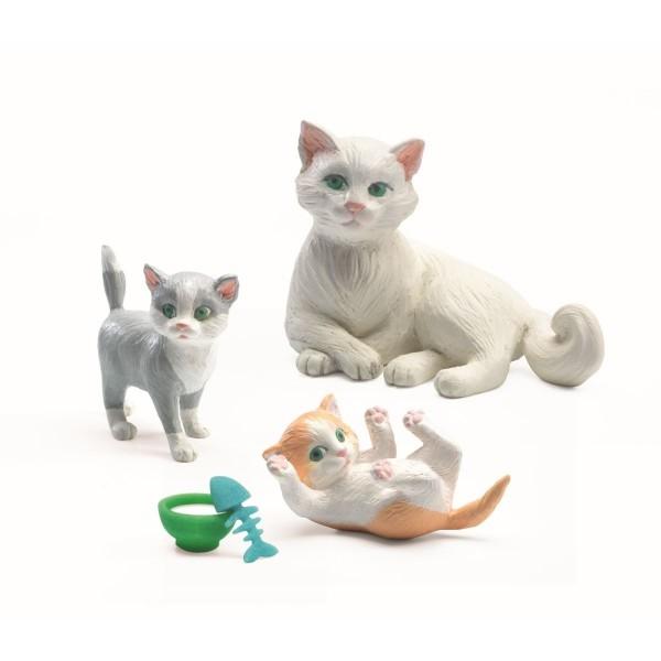 """Puppenhaus-Figuren """"Katzen"""""""