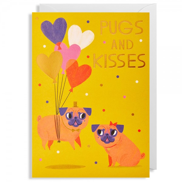 "Klappkarte Allison Black ""Pugs And Kisses"""