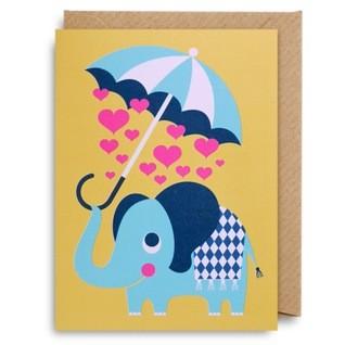 "Kleine Klappkarte ""Elephant Love"" Ingela"
