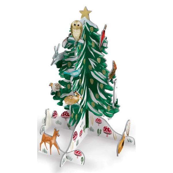"3D Winterszenerie Pop&Slot ""Woodland Christmas Conifer"""
