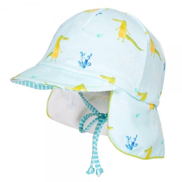 """Jersey-Mütze mit Nackenschutz """"Krokodile"""" mint"""