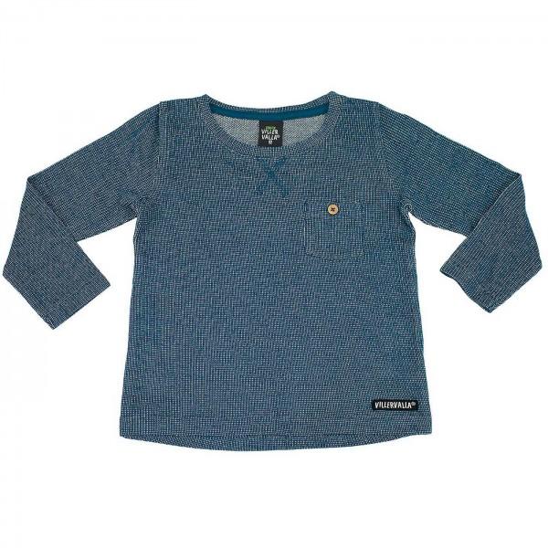 "Shirt ""Nordic Knit"" blau melange"