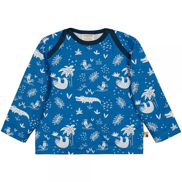 """Shirt """"Dschungel"""" cobalt"""