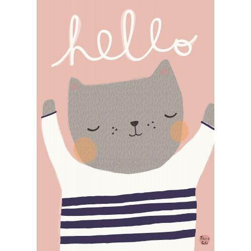 "Poster ""Hello Katze"" Aless Baylis 42x29,7 cm"