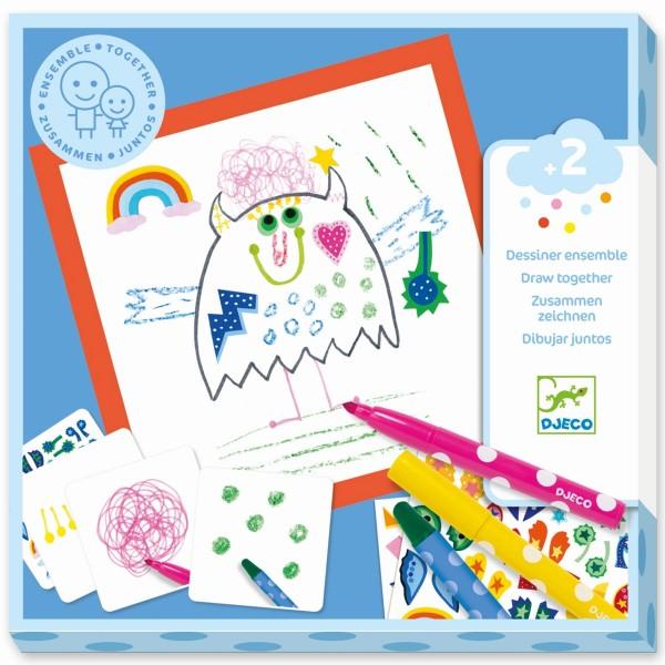 """Zeichnen """"Kleine Monster"""" mit Stickern"""