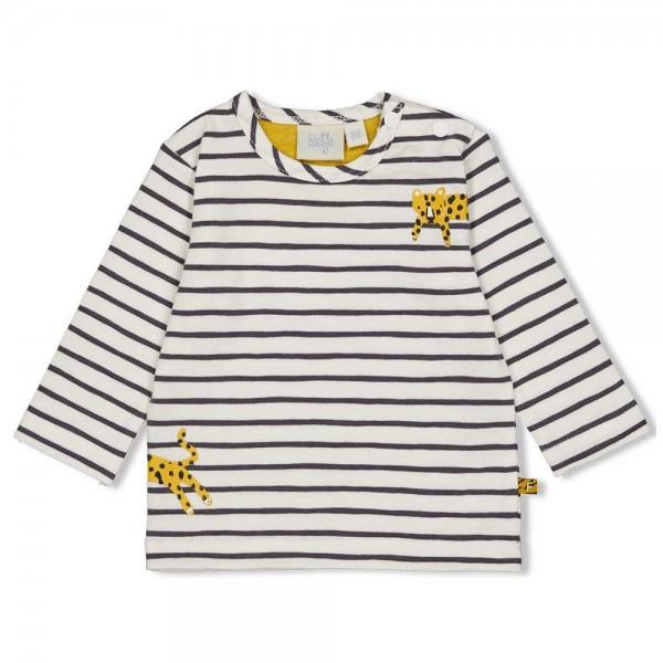 """Baby-Shirt """"Go Wild - Ringel"""" natur/marine"""