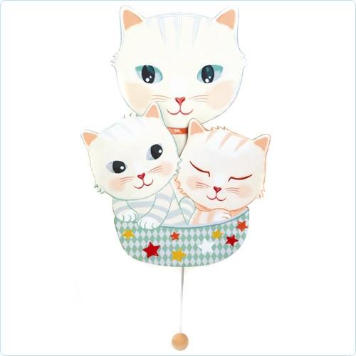"""Wand-Spieluhr """"3 Katzen"""""""