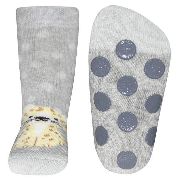 """ABS-Socken """"Leopard"""" grau melange"""