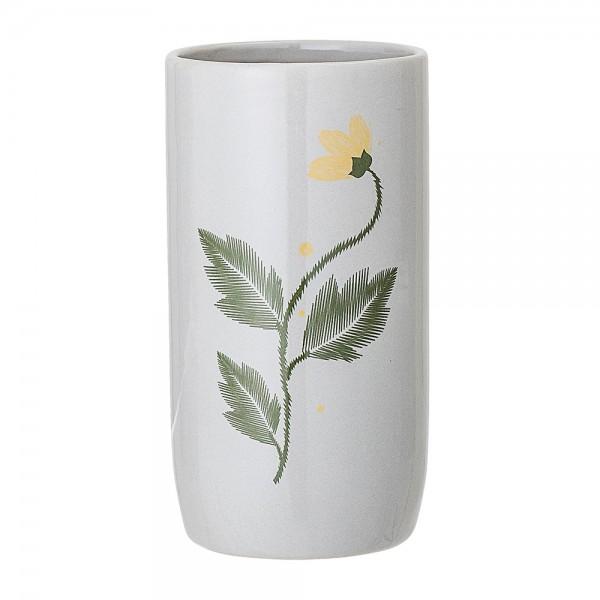 22063242 Bloomingville Vase Blume hellgrau