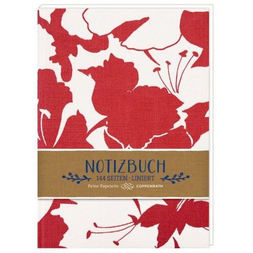 "Hardcover-Notizbuch Stoffeinband ""All about red - Blüten"""