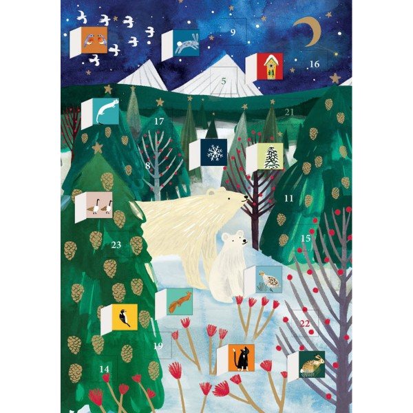 "Adventskalender-Klappkarte ""Polar Bear Christmas"""