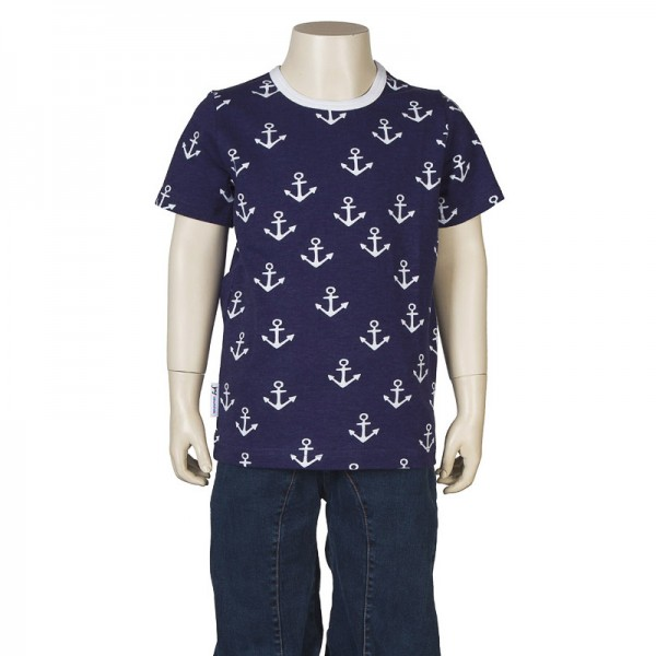 "Kurzarm-Shirt ""Anker"" marine"
