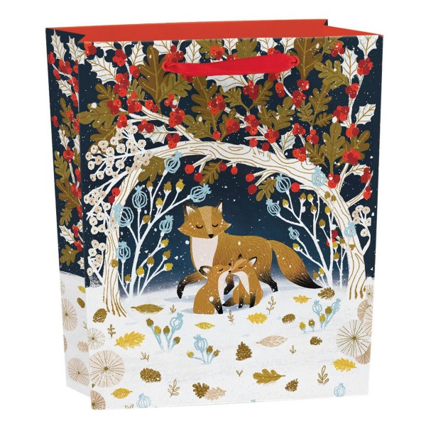 """Geschenktüte """"Paw Prints in the Snow"""" hoch H 23 cm"""
