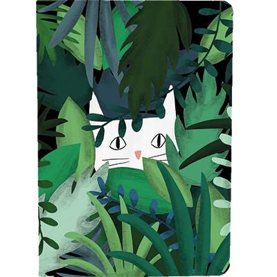 """Notizheft A5 """"Jungle Cat"""" 48 Seiten blanko"""