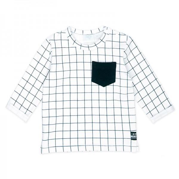 "Baby-Shirt ""Karo"" weiß"