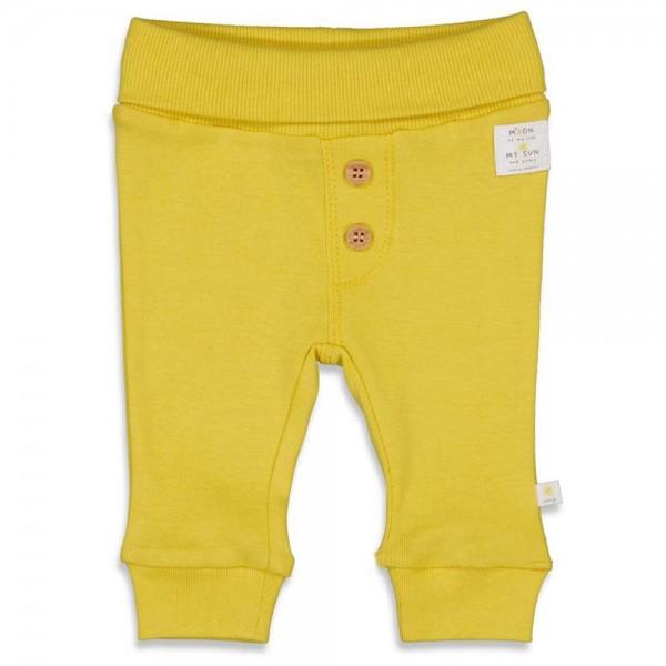 Bio Babyhose Knopfleiste gelb