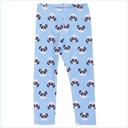 "Green Cotton Leggings KIDS ""Pandabären Allover"" hellblau"